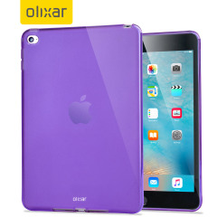 This purple FlexiShield for the iPad Mini 4 provides crystal case like protection with the durability of a silicone case.