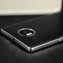 Mozo Microsoft Lumia 950 XL Batterieabdeckung in Schwarz / Silber