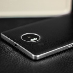 Mozo Microsoft Lumia 950 XL Wireless Charging Back Cover -Black/Silver