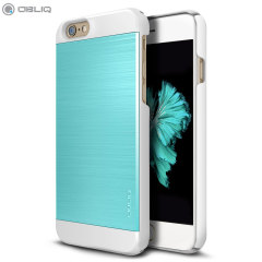 Obliq Slim Meta II Series iPhone 6S Plus / 6 Plus Hülle in Blau/Weiß