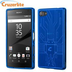 Cruzerlite Bugdroid Circuit Sony Xperia Z5 Compact Case Hülle in Blau