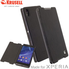 The Ekero FolioSkin Cover from Krusell in black is beautifully crafted in a textured material with a slim look which offers fantastic all round protection for Sony Xperia Z5. This is a classic option for work or weekend.