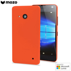 This Mozo back cover case in orange protects your Microsoft Lumia 550 while giving your device a bright new look. The case is also 'Designed for Microsoft Lumia', so you can be sure of a perfect fit matching Microsoft's high standards.