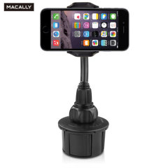 Keep your phone close at hand and safely in view while driving with the Macally adjustable cup holder mount.