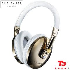 Ted Baker Rockall Premium Kopfhörer in Weiß/Gold