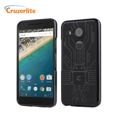 Halten Sie Ihr Nexus 5X vor Schäden sicher mit dieser Android-Schaltung inspirierten, langlebigen TPU Hülle von Cruzerlite.