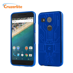 Keep your Nexus 5X protected from damage with this Android-circuitry inspired, durable blue coloured TPU case by Cruzerlite.