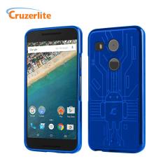 Hold din Nexus 5X beskyttet mot skader med dette Android-circuitry inspirerte, slitesterke TPU dekselet fra Cruzerlite.