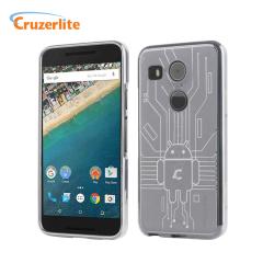 Cruzerlite Bugdroid Circuit Nexus 5X Case Hülle in Klar