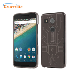 Cruzerlite Bugdroid Circuit Nexus 5X Case Hülle in Smoke