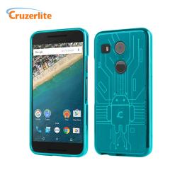 Cruzerlite Bugdroid Circuit Nexus 5X Case Hülle in Teal