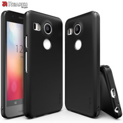 Provide your Nexus 5X with ultra-thin, tough snap-on protection with this Ringke Slim black polycarbonate case.