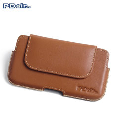 PDair Sony Xperia Z5 Leather Holster Pouch Case - Brown