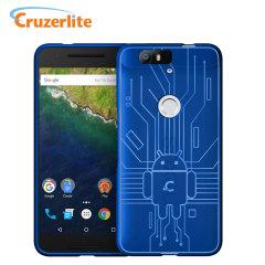 Cruzerlite Bugdroid Circuit Nexus 6P Case Hülle in Blau
