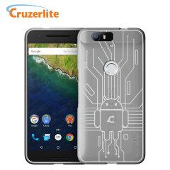 Cruzerlite Bugdroid Circuit Nexus 6P Case - Clear