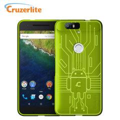 Cruzerlite Bugdroid Circuit Nexus 6P Deksel - Grønn