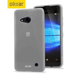 Custom moulded for the Microsoft Lumia 550, this frost white FlexiShield case by Olixar provides slim fitting and durable protection against damage.