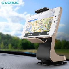 Place your phone or other device player on the car windscreen or dashboard with the stylish Verus Hybrid Grab in-car mount in gold and black. A secure fit, universal compatibility and fully posable positioning means this is a complete mounting solution.