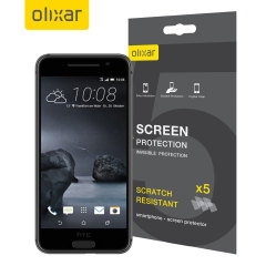 Keep your HTC One A9 screen in pristine condition with this Olixar scratch-resistant screen protector 5-in-1 Pack.