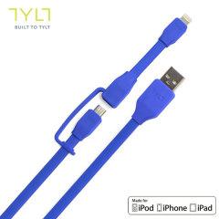 Cable de Carga y Sincronización TYLT Syncable-Duo - Azul