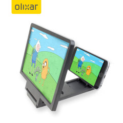 Project your smartphone onto a bigger screen with the Olixar Jack Up Smartphone Screen Magnifier. It's portable, easy to assemble, lightweight and compact. The magnifier can be taken anywhere and stored conveniently when not in use.