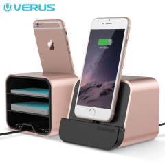 Dock chargement iPhone / iPad Verus i-Depot - Rose Or