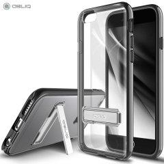 Gardez votre iPhone 6 Plus / 6S Plus à l'abri des dommages grâce à cette coque noire avec béquille de chez Obliq.