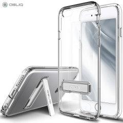 Mantenga su iPhone 6/ 6S Plus protegido de daños con esta funda de policarbonato transparente y dorada muy resistente y atractiva de la marca Obliq.