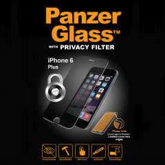 Introducing the PanzerGlass glass screen protector with privacy filter. Designed to be shock resistant and scratch resistant, PanzerGlass offers ultimate protection for your iPhone 6S Plus/6 Plus display.