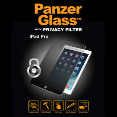 Introducing the PanzerGlass glass screen protector with privacy filter. Designed to be shock resistant and scratch resistant, PanzerGlass offers ultimate protection for your iPad Pro 12.9 inch's display.