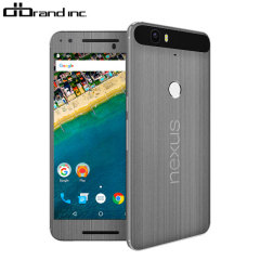 dbrand Nexus 6P Cover Skin in Titanium Silber