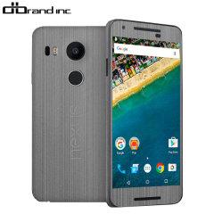 dbrand Nexus 5X Cover Skin in Titanium Silber
