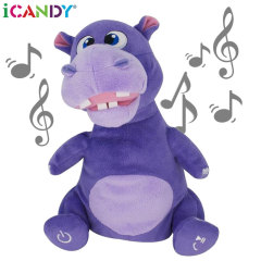 iCandy Hilda Hippo Cuddly Bluetooth Dancing Speaker - Paars