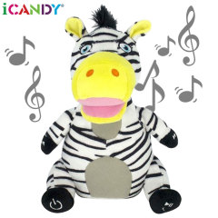 iCandy Ziggy Zebra Cuddly Bluetooth Dancing Speaker - Black / White