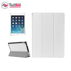 Tuff-Luv iPad Pro 12.9 inch Leather-Style Case, Armour Shell - White