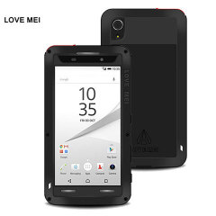 Protect your Sony Xperia Z5 Premium with one of the toughest and most protective cases on the market, ideal for helping to prevent possible damage from water and dust - this is the black Love Mei Powerful Protective Case.