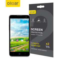 Olixar ZTE Grand X2 Screen Protector 2-in-1 Pack