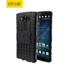 Proteja su LG V10 con esta resistente funda compuesta de una capa TPU y otra resistente a impactos.