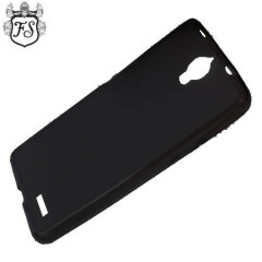 This black cover offers crystal case-like protection with the durability of a silicone case for the Alcatel OneTouch Idol X.