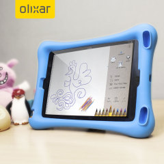 Let your child use your iPad Mini 4 without worrying with the extremely robust and fun Olixar Child-Friendly Silicone Case in blue. With anti-shock corners the Big Softy protects against the rigours of everyday use.
