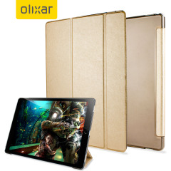 Protect your iPad Pro 12.9 2015 with this supremely functional transparent and gold case with viewing stand feature. Also features smart sleep / wake functionality.