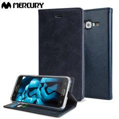 Mercury Blue Moon Samsung Galaxy J5 2015 Wallet Case - Navy