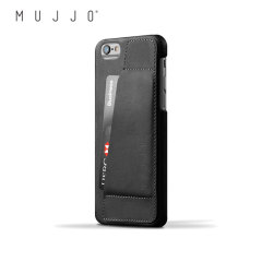 Mujjo Leren Wallet Case 80° iPhone 6S/6 Case - Zwart