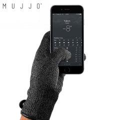 Guantes para pantallas capacitivas Mujjo Double-Layered - Negro