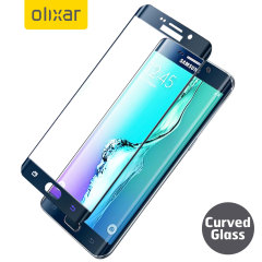 Olixar S6 Edge Plus Curved Glass Screen Protector - Black Sapphire