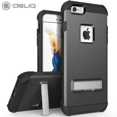 The Obliq Skyline Advance Stand Case in grey is a hybrid ergonomic protective case for the iPhone 6S / 6, providing fantastic shock absorption without adding excessive bulk. It also features a metal kickstand stand for viewing media and web browsing.
