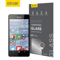 Este protector de pantalla de vidrio templado ultra-delgado para el Microsoft Lumia 950 ofrece dureza, alta visibilidad y sensibilidad todo en uno.
