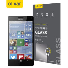 This ultra-thin tempered glass screen protector for the Microsoft Lumia 950 XL from Olixar offers toughness, high visibility and sensitivity all in one package.