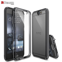 Protect the back and sides of your HTC One A9 with this incredibly durable and smoke black backed Fusion Case by Ringke.