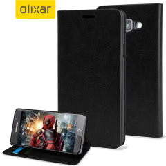 Olixar Samsung Galaxy A3 2016 Leather-Style Wallet Case - Black